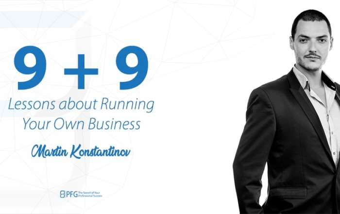 9 + 9 lessons about running your own business